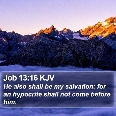 Job 13:16 KJV Bible Verse Image