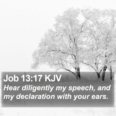 Job 13:17 KJV Bible Verse Image
