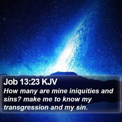 Job 13:23 KJV Bible Verse Image