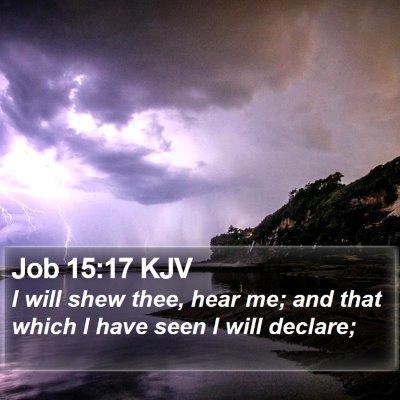 Job 15:17 KJV Bible Verse Image