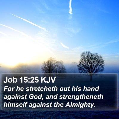 Job 15:25 KJV Bible Verse Image