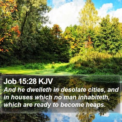 Job 15:28 KJV Bible Verse Image