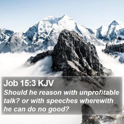 Job 15:3 KJV Bible Verse Image