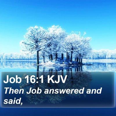 Job 16:1 KJV Bible Verse Image