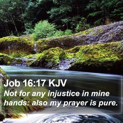 Job 16:17 KJV Bible Verse Image