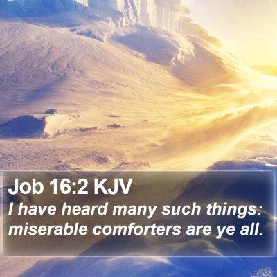Job 16:2 KJV Bible Verse Image
