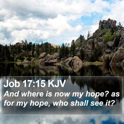 Job 17:15 KJV Bible Verse Image