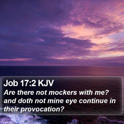 Job 17:2 KJV Bible Verse Image