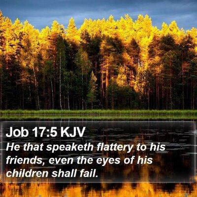 Job 17:5 KJV Bible Verse Image