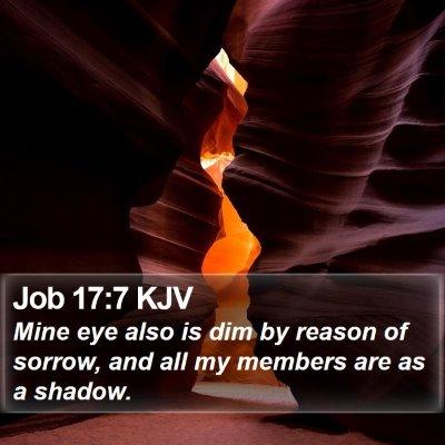 Job 17:7 KJV Bible Verse Image
