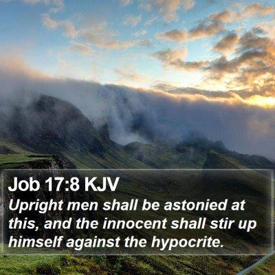 Job 17:8 KJV Bible Verse Image