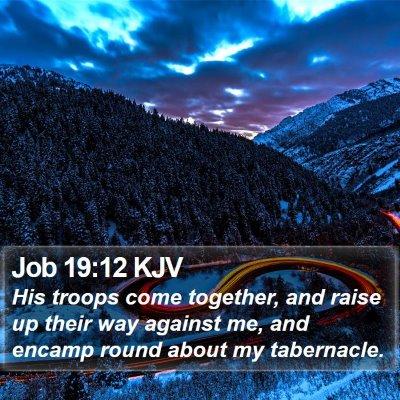 Job 19:12 KJV Bible Verse Image