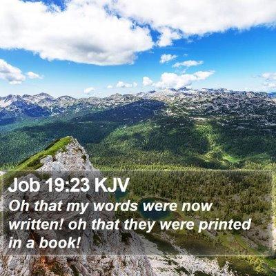Job 19:23 KJV Bible Verse Image