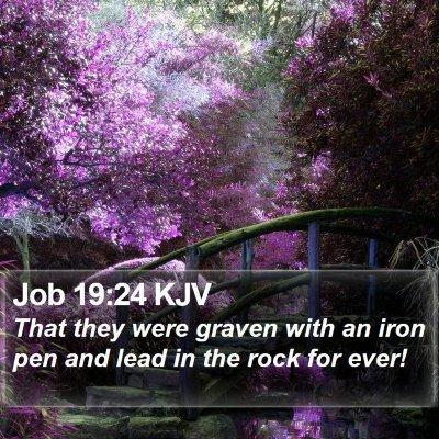 Job 19:24 KJV Bible Verse Image