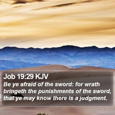 Job 19:29 KJV Bible Verse Image