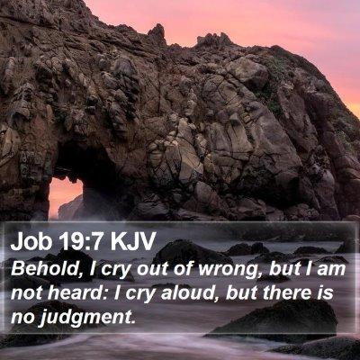 Job 19:7 KJV Bible Verse Image