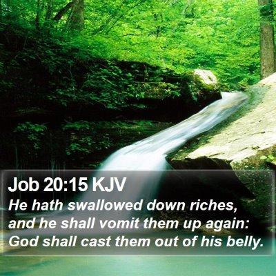 Job 20:15 KJV Bible Verse Image