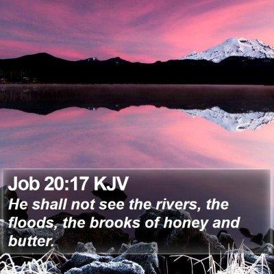 Job 20:17 KJV Bible Verse Image