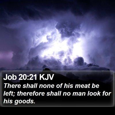 Job 20:21 KJV Bible Verse Image