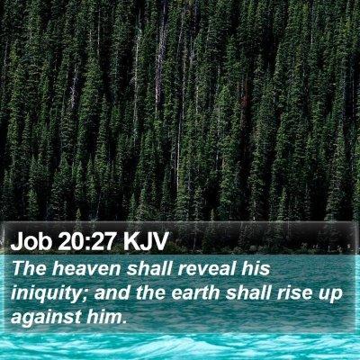 Job 20:27 KJV Bible Verse Image