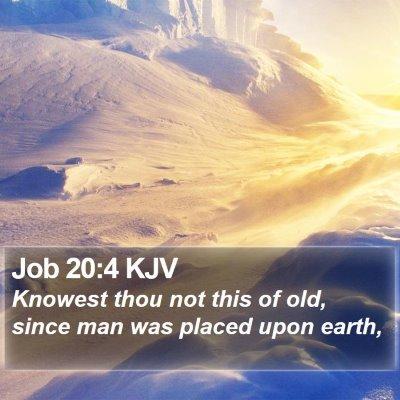 Job 20:4 KJV Bible Verse Image