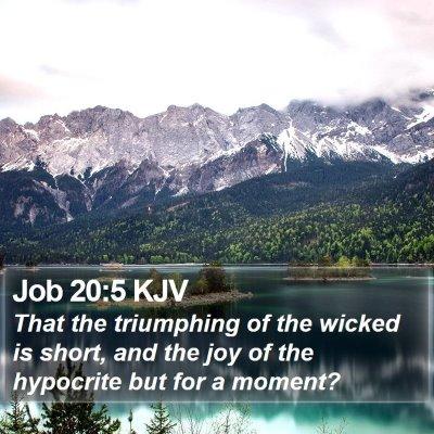 Job 20:5 KJV Bible Verse Image