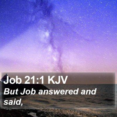 Job 21:1 KJV Bible Verse Image