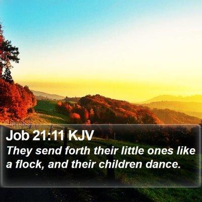 Job 21:11 KJV Bible Verse Image