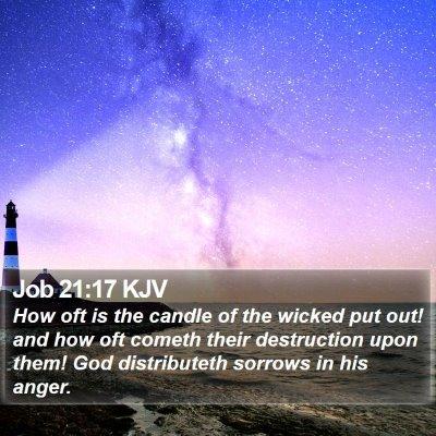 Job 21:17 KJV Bible Verse Image