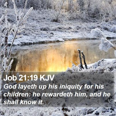 Job 21:19 KJV Bible Verse Image