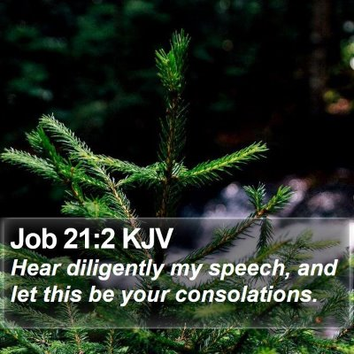 Job 21:2 KJV Bible Verse Image
