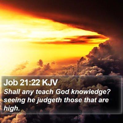 Job 21:22 KJV Bible Verse Image