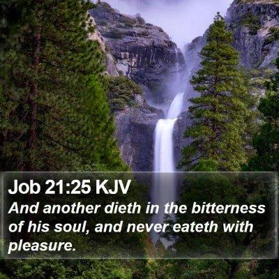 Job 21:25 KJV Bible Verse Image