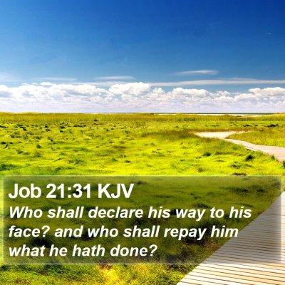 Job 21:31 KJV Bible Verse Image