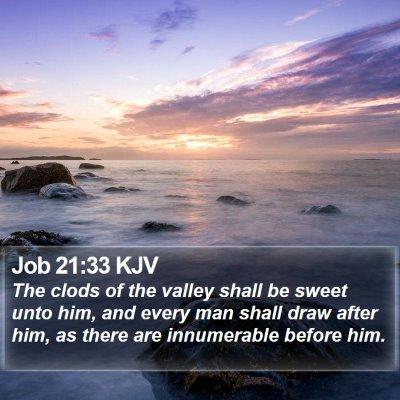 Job 21:33 KJV Bible Verse Image