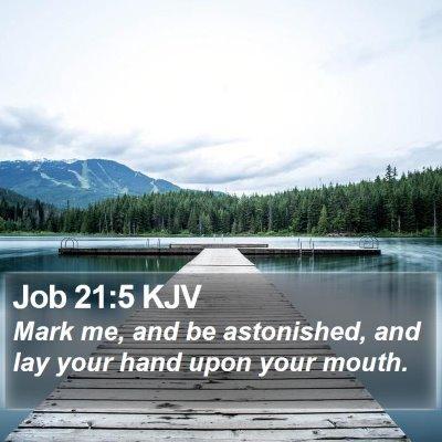 Job 21:5 KJV Bible Verse Image