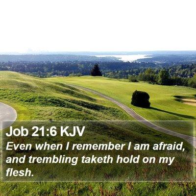 Job 21:6 KJV Bible Verse Image