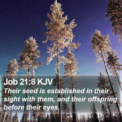 Job 21:8 KJV Bible Verse Image