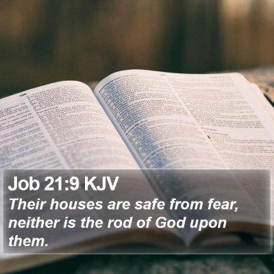 Job 21:9 KJV Bible Verse Image