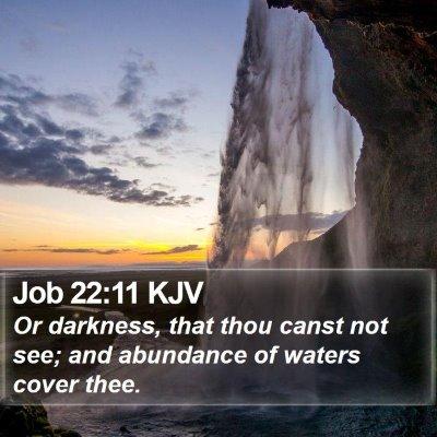 Job 22:11 KJV Bible Verse Image