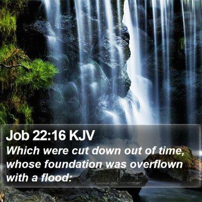 Job 22:16 KJV Bible Verse Image