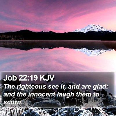 Job 22:19 KJV Bible Verse Image