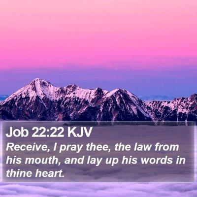 Job 22:22 KJV Bible Verse Image