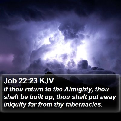 Job 22:23 KJV Bible Verse Image