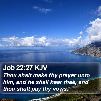 Job 22:27 KJV Bible Verse Image