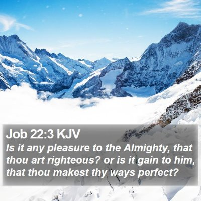 Job 22:3 KJV Bible Verse Image