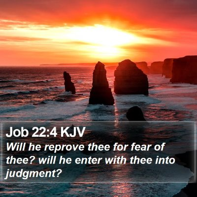 Job 22:4 KJV Bible Verse Image