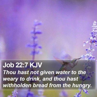 Job 22:7 KJV Bible Verse Image