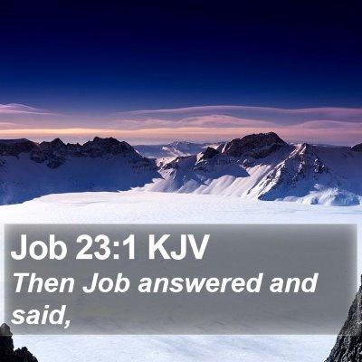 Job 23:1 KJV Bible Verse Image