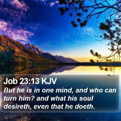 Job 23:13 KJV Bible Verse Image